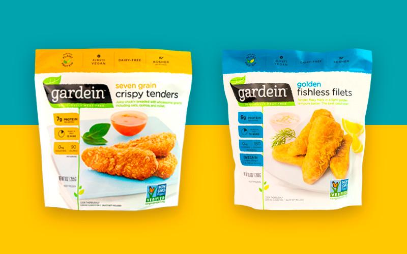 Gardein |  Seven grian crispy tenders & Golden fishless filets